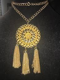 medallion tassel pendant necklace