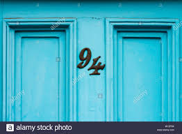 Turquoise Front Door High Resolution Stock Photography and Images ...