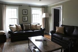 black sofa living room leather couches