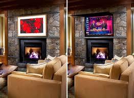hiding tv using framed art or behind mirror