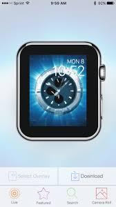 apple watch live clock faces