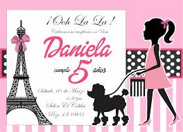 Invitacion Barbie Paris Invitaciones De Barbie Invitacion