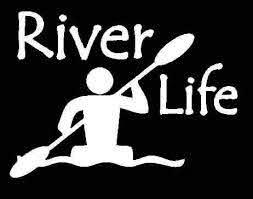 River Life Kayak Window Decal Sticker Custom Sticker Shop