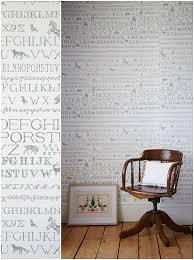 Cross Stitch Wallpaper by Abigail Edwards