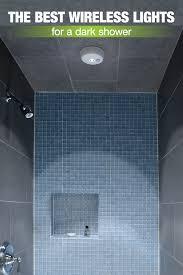 wireless lights for a dark shower