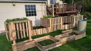 diy pallet garden raised flower bed