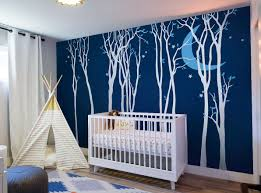 Forest Tree With Moon Stars Removable Vinyl Wall Decal Etsy Tree Wall Murals Nursery Wall Decals Nursery Walls