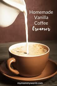homemade vanilla coffee creamer my