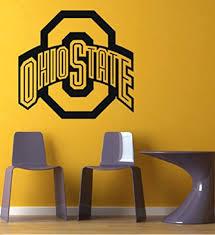 Amazon Com Ncaa Ohio State Buckeyes Gym Sports Logo Wall Mural Vinyl Sticker Da3102 Kitchen Dining