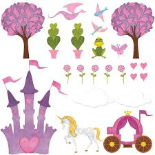 Princess Wall Stickers Peel Stick Decals For Princess Wall Decor