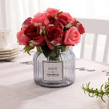 اليدوية بوكيه ورد صناعي الحرير الزهور للزينة الزفاف الزواج عيد