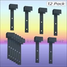 Market Stall Hook Over Display Brackets Strong All Steel Construction 12 Pk Ebay