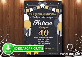 Invitacion Fiesta Sorpresa 40 Anos Mega Idea