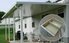 aluminum patio covers flat pan