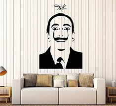 Amazon Com Firstdecals Vinyl Wall Decal Salvador Dali Surrealism Famous Painting Art Mustache Decor Stickers Large Decor 1480lk Home Kitchen