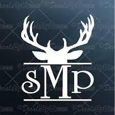 Deer Head Monogram Decal Deer Head Monogram Car Sticker Lowest Prices