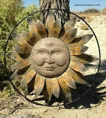 sun wall decor flower rustic garden art
