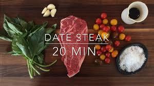 romantic date night steak dinner for
