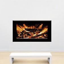 Fireplace Wallpaper Decal Mural Fire Wall Vinyl Realistic Fireplace Art S51 Ebay