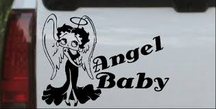 Betty Boop Angel Baby Decal Car Or Truck Window Decal Sticker Or Wall Art Decalsrock
