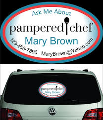 Pampered Chef Perforated Vehicle Back Window Decal