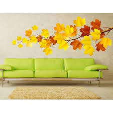 Shop Fall Maple Leaf Full Color Wall Decal Sticker K 211 Frst Size 30 X60 Overstock 20872222
