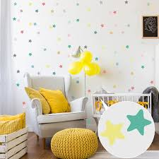 Colored Stars Wall Sticker For Kids Rooms Wall Decal Children Room Wall Decor Home Decoration Baby Nursery Bedroom Wall Stickers Wall Stickers Aliexpress