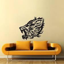 Lion Fire Vinyl Wall Art Decal
