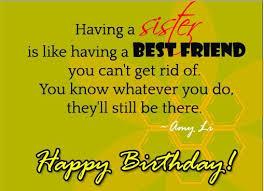 having a sister is like having a best friend happy birthday