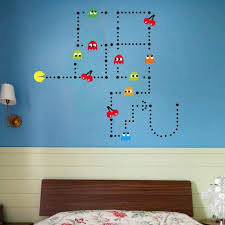Amazon Com Pac Man Game Wall Decal Cartoon Sticker Kids Bedroom Nursery Room Removable Wall Decor Murals Kitchen Dining