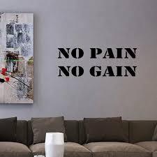 Vwaq No Pain No Gain Exercise Quote Wall Decal Reviews Wayfair