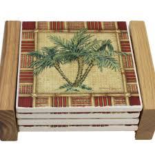 palm tree coasters nautical tropical