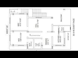 30 x 45 east face 2bhk house plan you