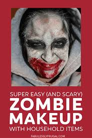 easy diy zombie makeup with household