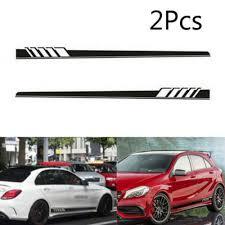2x Car Body Graphics Vinyl Decal Sticker Sports Racing Long Stripe Decals Black Ebay