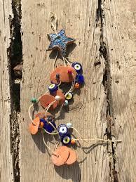 coastal outdoor art blue starfish decor