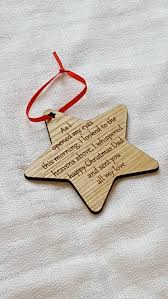 wooden tree decorations with