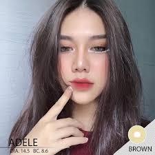 คอนแทคเลนส์ ลาย Adele brown | Shopee Thailand