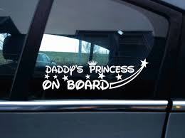 2x Daddy S Princess On Board Car Stickers Decals Etsy