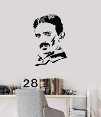 Vinyl Wall Decal Nicola Tesla Famous Scientist Science Lab Decor Art S Wallstickers4you