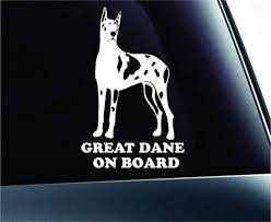 Amazon Com Expressdecor Great Dane On Board Dog Symbol Decal Paw Print Dog Puppy Pet Family Breed Love Car Truck Sticker Window White Automotive