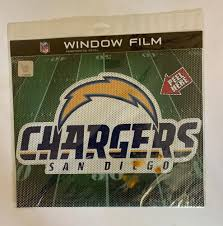 Big 12 San Diego Chargers Car Home Perforated Window Film Decal Nfl Football Memorabilia