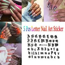 Vova Decal Manicure Adhesive Decor 3d Nail Art Sticker Tips Transfer English Letter