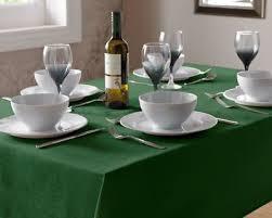 green linen look tablecloth 90cm 36