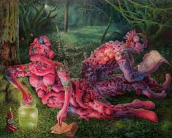 Border Creatures: Adrian Cox's paintings of mythtical, grostesque  characters that merge with nature | Creative Boom
