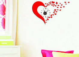 Butterfly Wall Clock Sticker Clock Wall Decal Big Clock Decorating Independence