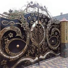 2019 Wrought Iron Gate And Fences Design Nigeria Hot Style View Wrought Iron Gates And Fences Hongtu Product Details From Guangdong Hongtu New Materials Technology Co Ltd On Alibaba Com