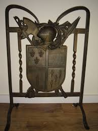 beautiful cast iron fireplace screen