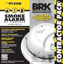120v ac dc smoke alarm contractor 6 pack
