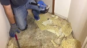 remove old glue down vinyl flooring